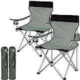 TecTake Chaise de Camping Fauteuil Pliable avec Porte-Boisson et Sac de...