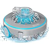 SMONET Cordless Robotic Pool Cleaner, Powerful Suction Automatic Pool Cleaner, Rechargeable, Lightweight, 60 Mins Run Time, IPX8 Waterproof Suitable Above Ground or Inground Pool Area up to 430 Sq Ft