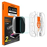 Spigen Tempered Glass Screen Protector [Proflex EZ Fit] Designed for Fitbit Versa/Fitbit Versa Lite [Curved Edge] - 2 Pack