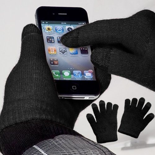 yayago Touchscreen Handschuhe Schwarz Universalgröße (ca. S – M) – für Medion Akoya E8201T (MD 99751)