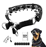 Prong Dog Training Collar with Protector, 4.0 mm x 23.6', Steel