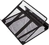 AmazonBasics - Soporte para portátil de altura ajustable con ventilación y organizador de cables