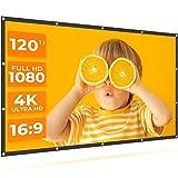 VANKYO StayTrue Projector Screen, 120 Inch Projection Screen 4K HD, 16:9, Foldable Wrinkle-Free...