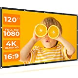 VANKYO StayTrue Projector Screen, 120 Inch Projection Screen 4K HD, 16:9, Foldable Wrinkle-Free Movies Screen(1.1 GAIN, 160°Viewing Cone) for Vankyo Leisure 3 Projector, Support Front Rear Projection