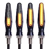 KINOEE 4PCS Indicateurs De Moto Couleurs Clignotants Lumières Moto Indicateurs De Tournage 12 V 12 LED Ampoules