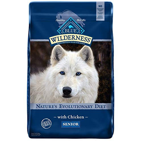 Blue Buffalo Wilderness High Protein, Natural Senior Dry Dog Food, Chicken 24-lb
