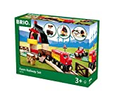 BRIO 33719 Farm Railway Set   Toy Train Set for Kids Age 3 and Up,Green
