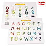 Apfity Magnetic Alphabet Tracing Board for Children, Uppercase Magnetic Letter Board Learn Alphabet, ABC Magnetic Drawing Board Letter and Number Tracing Board for Kids Toddlers Preschool