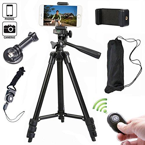 Goalsse Smartphone Statief   Afstelbaar voor vier verschillende hoogtes   Bluetooth afstandsbediening   Ook geschikt voor traditionele camera's