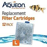 Aqueon 06419 Filter Cartridge, Large, 12-Pack