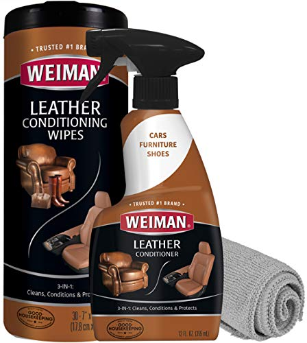 Weiman Leather Cleaner & Conditioner Care Kit