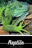 Reptile: Carnet de note | Iguane | Journal de bord | Lézard | Bloc note | reptile | Journal intime | Terrarium
