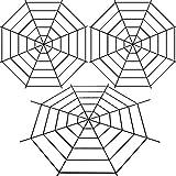 Boao 3 Pieces 5 Feet Black Spiderweb Large Spider Web Halloween Cobweb Decor for Festival Home Outdoor Decoration