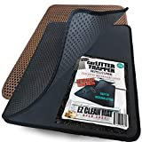 iPrimio Small Cat Litter Trapper Litter Mat, EZ Clean Cat Mat, Litter Box Mat Water Proof Layer and Puppy Pad Option. Patented. (23'x21' Black)