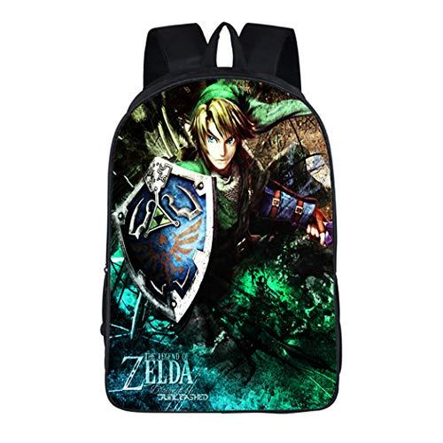 Cosstars The Legend of Zelda Juego Imagen Estudiante Mochila de la Escuela Bolsas Escolar Bolsa de Ocio Viaje Backpack /12