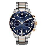 Bulova Marine Star Chronograph Mens Watch, Stainless Steel , Two-Tone (Model: 98B301)