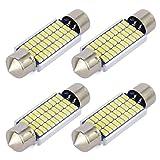 Safego 4x C5W LED Anti Erreur Blanc 41mm 3014 Ampoules 30SMD Feston Dôme...