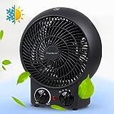 Aigostar Airwin Black 33IEL - Radiateur soufflant, air chaud et froid,...