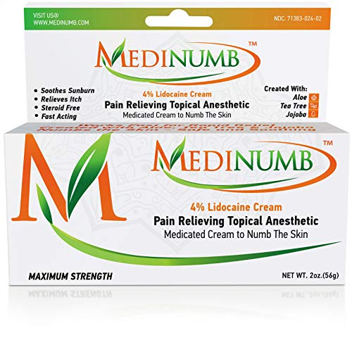 Medinumb Lidocaine Numbing Cream (2oz/56g) Topical...