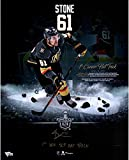 Mark Stone Vegas Golden Knights Autographed 16' x 20' First Hat Trick Highlight Photograph with'1st VGK SCP Hat Trick' Inscription - Limited Edition of 61 - Fanatics Authentic Certified