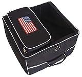 Golf Car Accessories Gym Gear Trunk Storage Locker Organizer with USA Flag Decal by Virvue Living