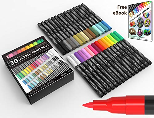 Acrylic Paint Pens 30 Assorted Markers Set