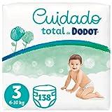 Dodot Pañales Bebé Cuidado Total Talla 3 (6-10 kg), 138 Pañales, Suave...