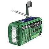 DEGEN DE13 FM AM SW Crank Dynamo Solar Power Emergency Radio A0798A World...