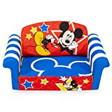 Marshmallow Furniture, Children's 2-in-1 Flip Open Foam Sofa, Disney's Mickey Mouse, by Spin Master