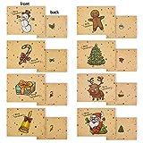 32 pcs Tarjeta de Felicitacin de Sobres de Navidad Serie Santa Claus Patrones Diferentes