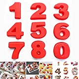 Silicone Numbers Cake Molds ,3D Digital Baking Silicone Mould,10Inch Large Number Cake Mold Set 0-9 Numbers Cake Molds Silicone Baking Pans for Birthday and Wedding Anniversary 3D Baking Molds Numbers