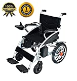 2020 Best Electric Wheelchair Folding Lightweight Heavy Duty Electric Power Motorized Wheelchair (Black)