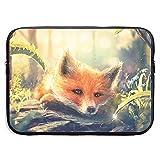 Funda de maletín de Negocios Cute Forest Fox Art Laptop Laptop Liner Protective Bag