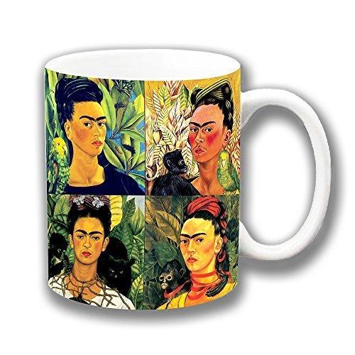 Frida Kahlo mexicano folclore Collage cerámica taza de café regalo de Navidad regalino