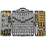 205 Piece Mechanics Tool Set, Socket Wrench Auto Repair Tool Pliers Combination Mixed Hand Tool Set Kit with Box Organizer Storage Case