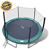 Happy Trampoline - Galactic Xtreme Gymnastic Round Trampoline with Safety Net Enclosure - Heavy Duty Gymnastic Commercial Grade - 550 lbs Capacity on Frame & Springs, 15 FT