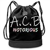 XCNGG Notorious ACB, New Justice 2020 RBG Moda Cómoda Mochila con Personalidad Bolsa Sport Sackpack Gym Bundle Pocket