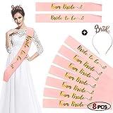HOWAF Rose Or Bride to be Écharpe et 6 Team Bride Écharpe Enterrement de...