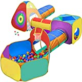 Gift for Toddler Boys & Girls, Ball Pit, Play Tent and Tunnels for Kids, Best Birthday Gift for 1 2 3 4 5 Year Old Pop Up Baby Play Toy, Target Game w/ 4 Darts Indoor & Outdoor