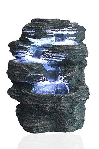 Arnusa Springbrunnen Niagara mit LED Beleuchtung...