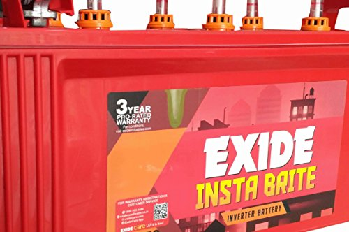 EXIDE INDUSTRIES 150Ah Insta Brite Inverter UPS Battery (Red)