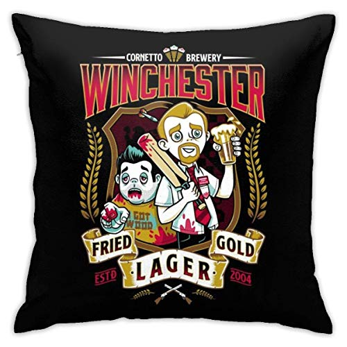 NotApplicable Federe Shaun of The Dead Winchester Fried Gold Lager Federa Cuscini per Divani...