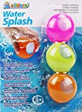alldoro – Water Splash Set of 3 Water Bombs, Reusable and Self-Closing, Water Balloon for Garden, Beach and Party, for Children from 3 Years and Adults