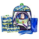 Toy Story Backpack Combo Set - Disney Pixar Toy Story Boys' 6 Piece Backpack Set - Woody & Buzz Lightyear Backpack & Lunch Kit (Black)