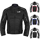Textile Motorcycle Jacket For Men Dualsport Enduro Motorbike Biker Riding Jacket Breathable CE ARMORED WATERPROOF (Black, M)