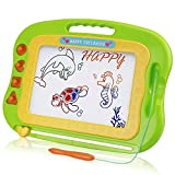 Flanney Large Magnetic Doodle Pad Drawing Board for Kids Toddlers Erasable Magnet Sketch Drawing Pad Educational Learning Toy with 4 Stamps Boys Girls Age of 3 4 5 6