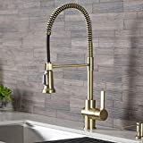 Kraus KPF-1690BG Britt Pre-Rinse/Commercial Kitchen Faucet with Dual Function Sprayhead in all-Brite Finish, Brushed Gold