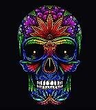 Textil Tarrago STG12 Serviette de plage, motif tête de mort noire, 180 x 140 cm, 100...