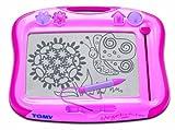 TOMY - Ardoise Magique Megasketcher Classique Rose T6484, Tablette Dessin Idéal Pour Voyager, Tableau Magnétique Effaçable Adapté aux Enfants de plus de 3 ans