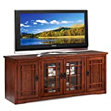 Leick Home Mission 60 inch Wood TV Stand Console with Media Storage, 60' Wide, Hand Applied Oak Finish